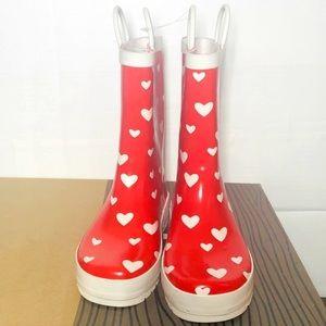 Rain boots girls size 2
